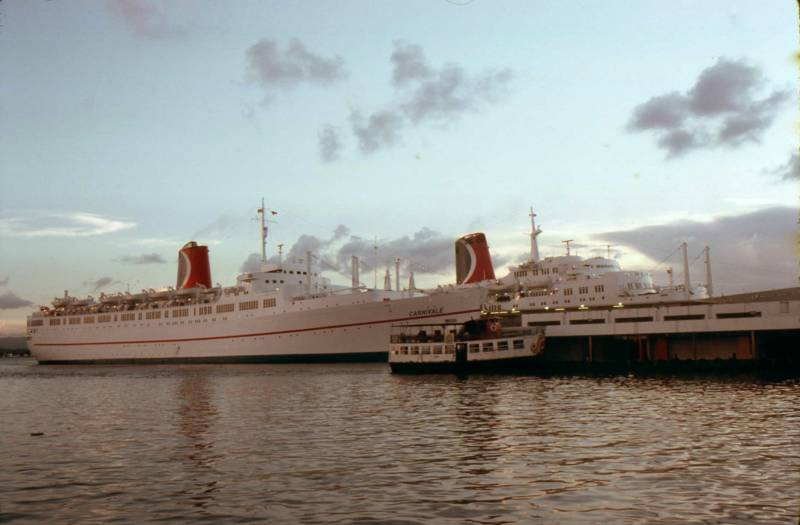 SS MARDI GRAS - History of cruise ship industry